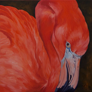 Flamingo to the Right by Linda Richter