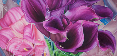 Purple Callas by Linda Richter